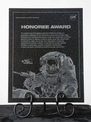60th Anniversary NASA Space Flight Awareness Honoree Award